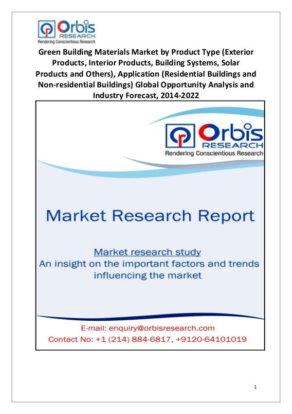 Industry Analysis Green Building Materials Market Global Opportunity