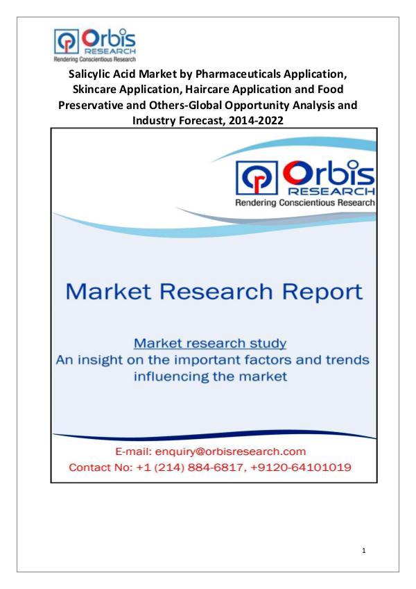Salicylic Acid Market Key Strategic Moves