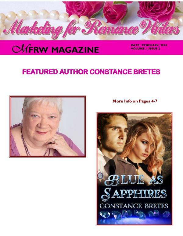 Marketing for Romance Writers Magazine February 2018 MFRW Magazine Vol. 1 Issue 2