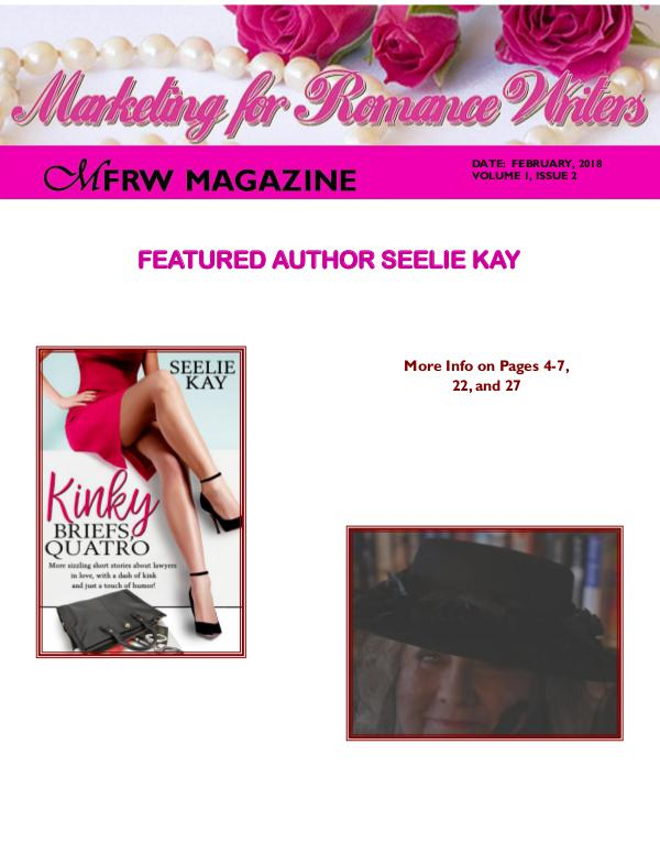 Marketing for Romance Writers Magazine March, 2018 Volume # 1, Issue # 3