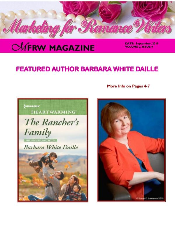 Marketing for Romance Writers Magazine September, 2019 Volume # 2, Issue # 9