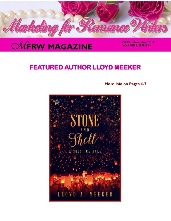 Marketing for Romance Writers Magazine December, 2019 Volume # 2, Issue # 12