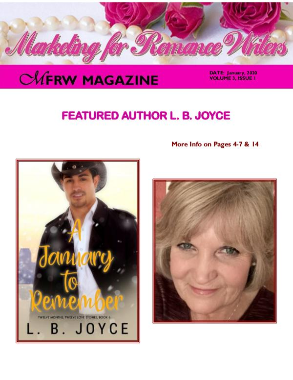 Marketing for Romance Writers Magazine January, 2020 Volume # 3, Issue #1