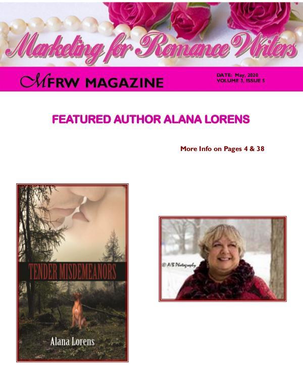 Marketing for Romance Writers Magazine May, 2020 Volume # 3, Issue # 5