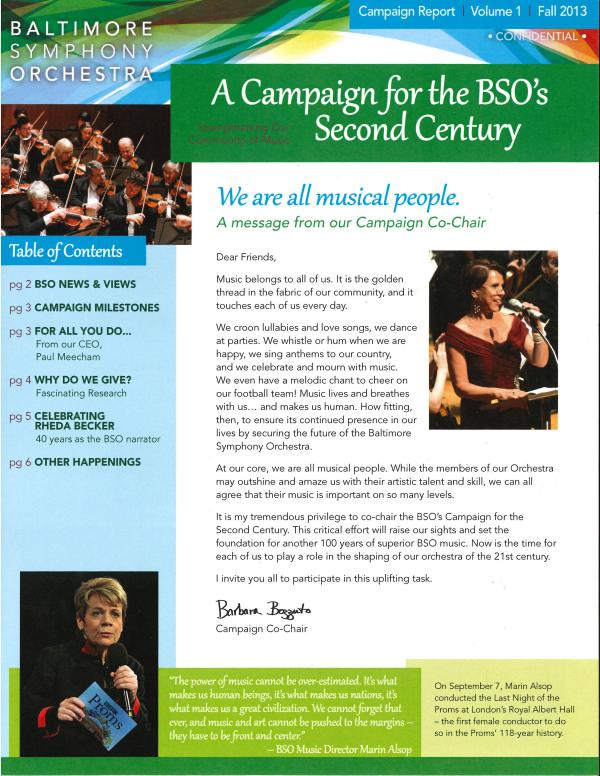 Resounding Newsletter Campaign Newsletter- Volume 1- Fall 2013
