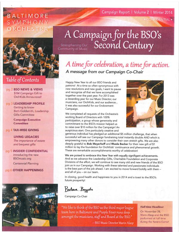 Resounding Newsletter Campaign Newsletter- Volume 2- Winter 2014