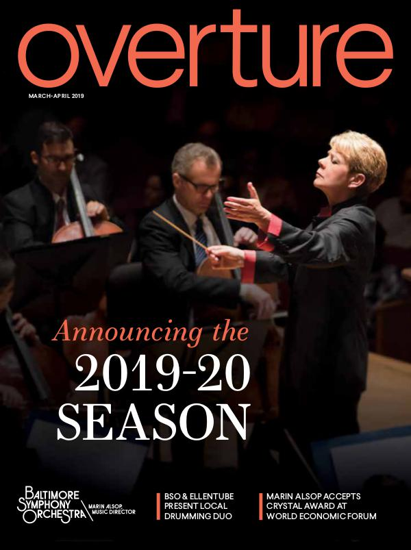 Overture Magazine - 2018-19 Season BSO_Overture_MAR_APR