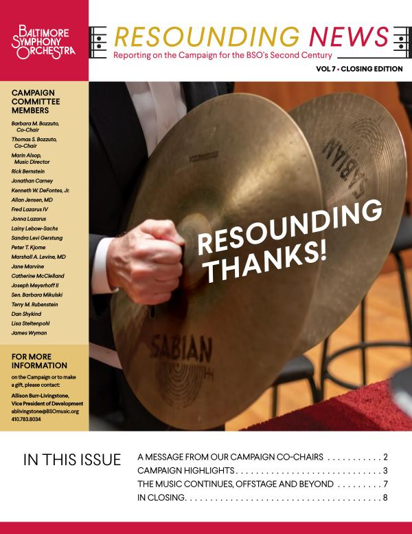 BSO1920 Resounding Newsletter Summer 2020