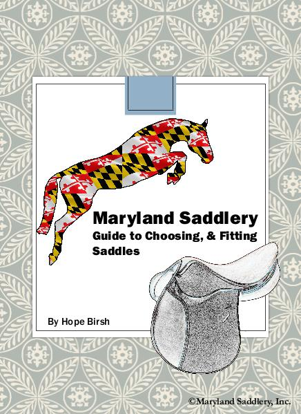 Maryland Saddlery's Guide to Choosing and Fitting Saddles Issue 1