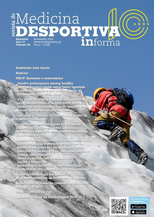 Revista de Medicina Desportiva Novembro 2020 Novembro 2020