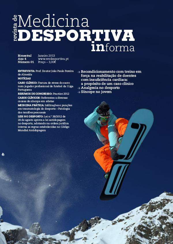 Revista de Medicina Desportiva Informa Janeiro 2013