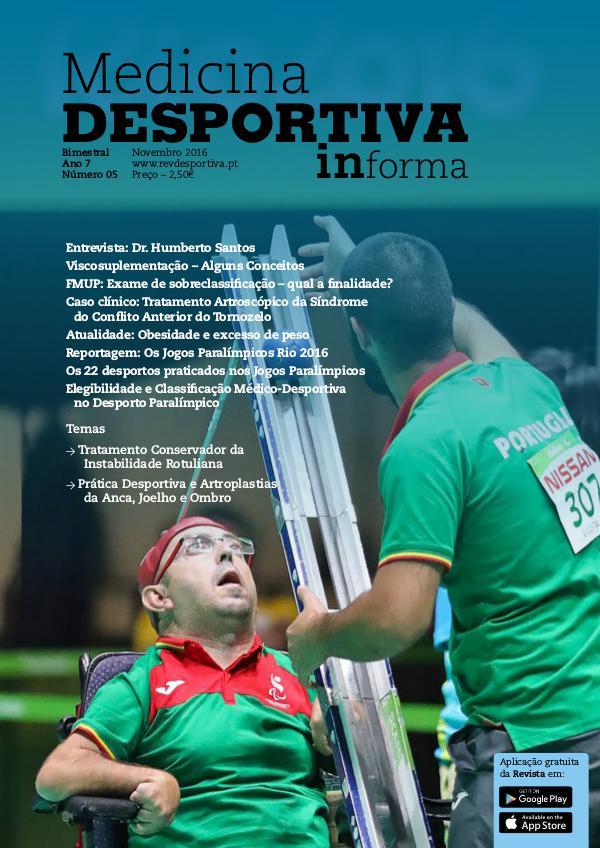 Revista de Medicina Desportiva Informa Novembro 2016