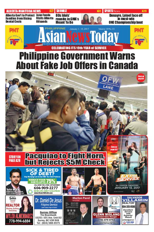 Philippine Asian News Today Vol 19 No1