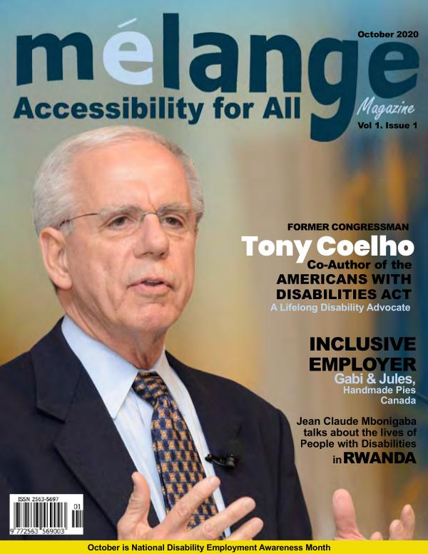 Mélange Accessibility for All Magazine October 2020