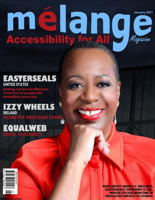 Mélange Accessibility for All Magazine January 2021
