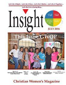 Insight Christian Women's Magazine July 2016