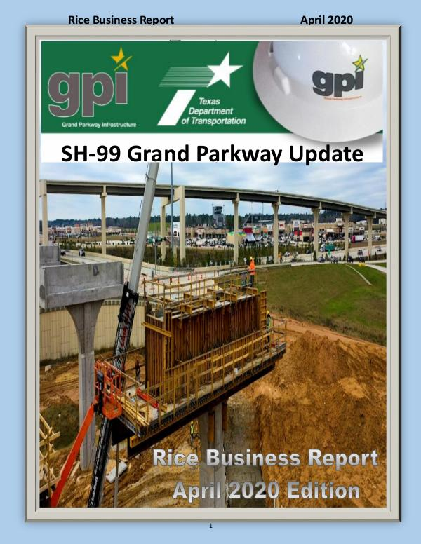 Rice Business Report April 2020 Edition Rice Business Report April 2020