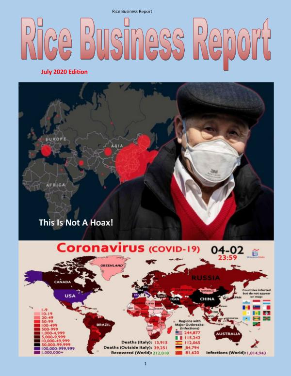 Rice Business Report July 2020 Edition
