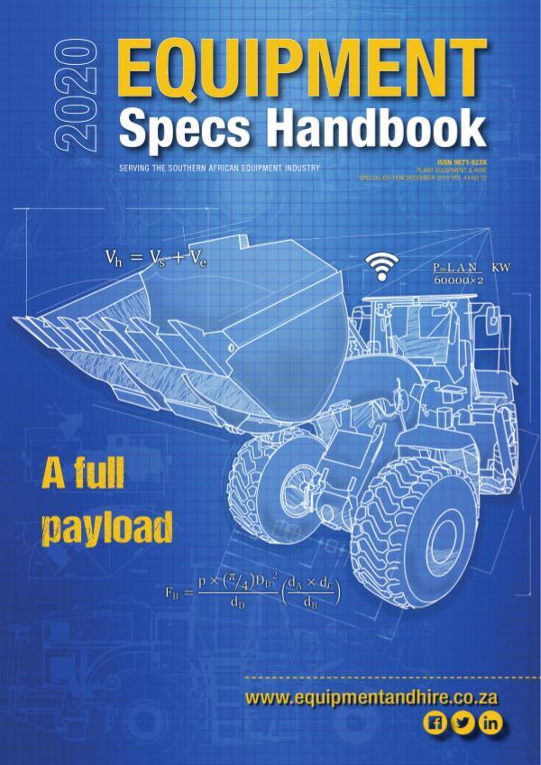 Equipment Specs Handbook 2020
