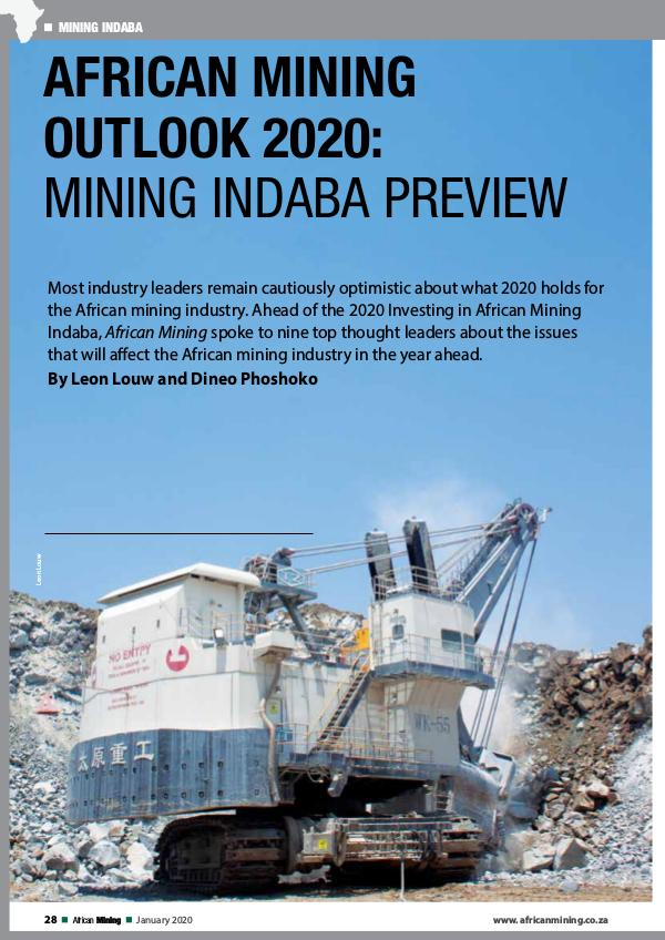 African Mining Outlook 2020: Mining Indaba Preview