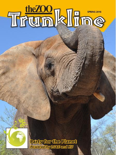 Trunkline Magazine (Louisville Zoo) Trunkline Magazine: March 2016