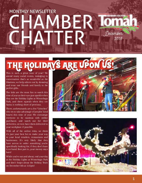 Tomah Chamber & Visitors Center Newsletter December Newsletter