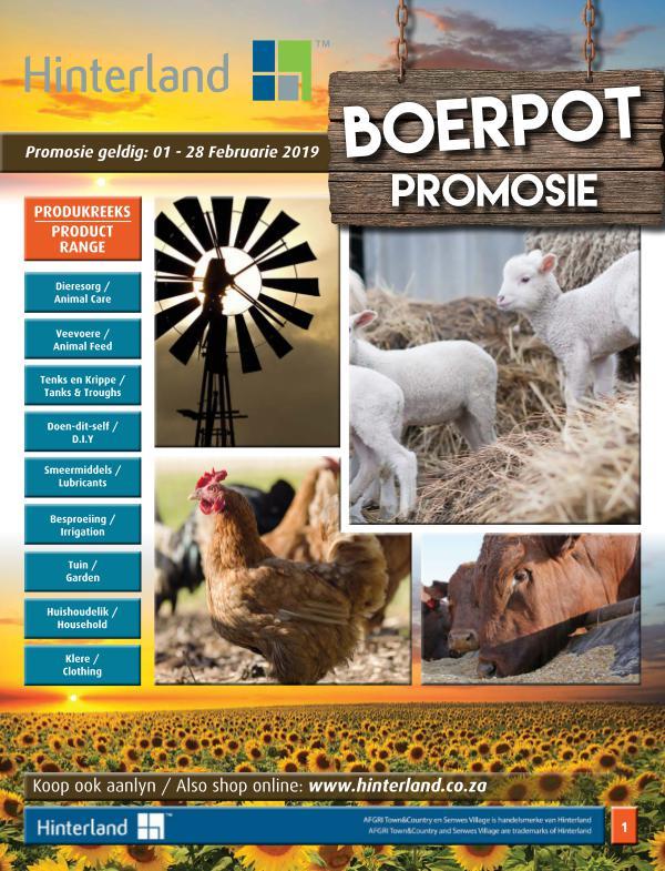 Hinterland Promotions Hinterland Boerpot Promosie