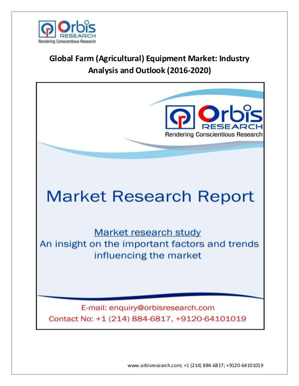 Outlook and Trend Analysis on Global  Farm (Agricu