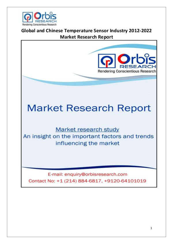 Industry Analysis Globally & Chinese Temperature Sensor Market 2017
