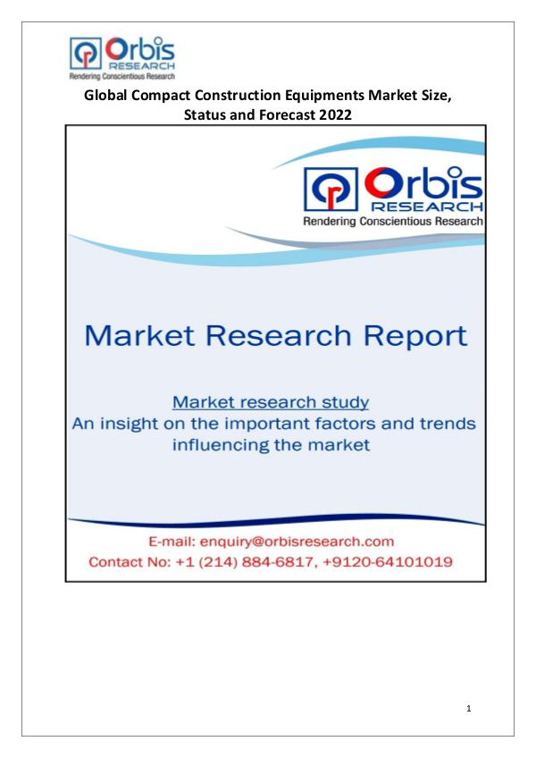 Global Compact Construction Equipments Market