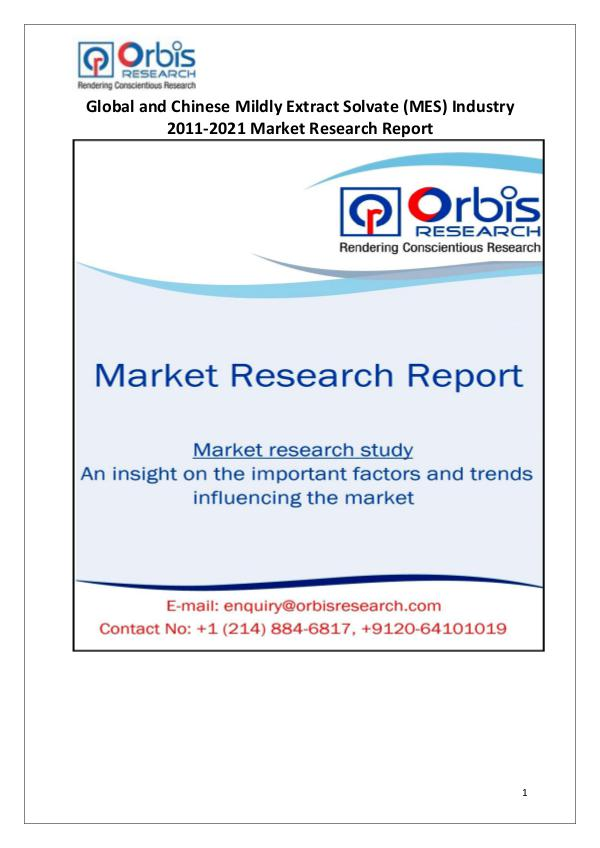 Global & China Mildly Extract Solvate (MES) Market