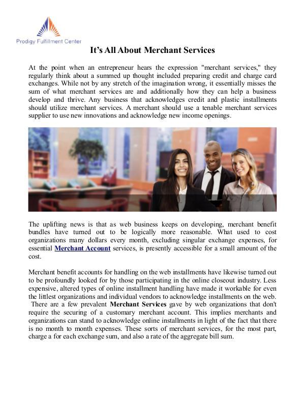 Merchant Services Merchant Services