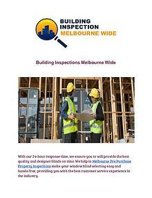 Building Inspections Melbourne Wide