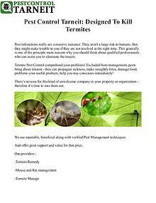 Pest Control Service Tarneit Melbourne