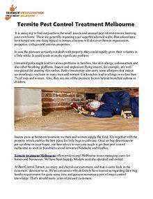 Best Pest Control Melbourne