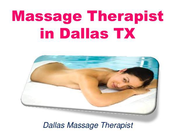 Massage Therapist in Dallas TX 1