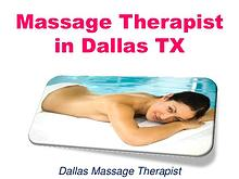 Massage Therapist in Dallas TX