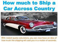How much to Ship a Car across Country