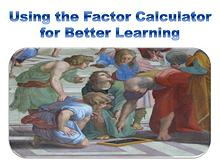 Using the Factor Calculator