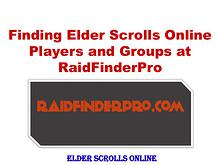 Finding Elder Scrolls Online Players and Groups