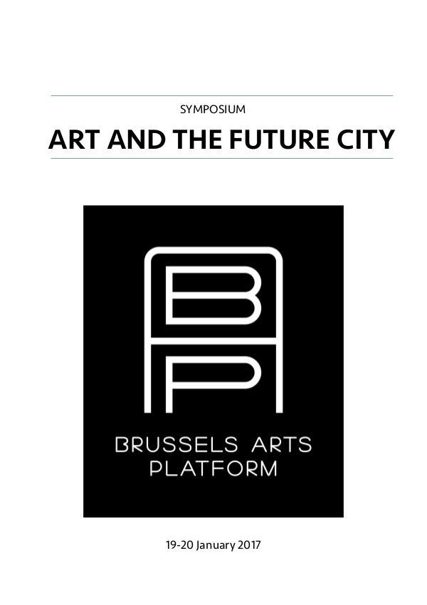 Art and the Future City @ Beursschouwburg Symposium