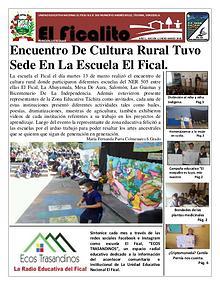 Periódico Escolar El Ficalito.