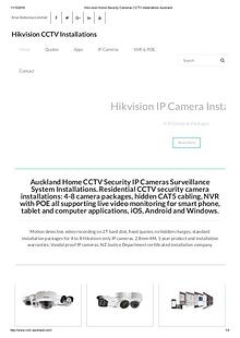 CCTVAuckland Home CCTV Security IP Cameras Surveillance System Instal