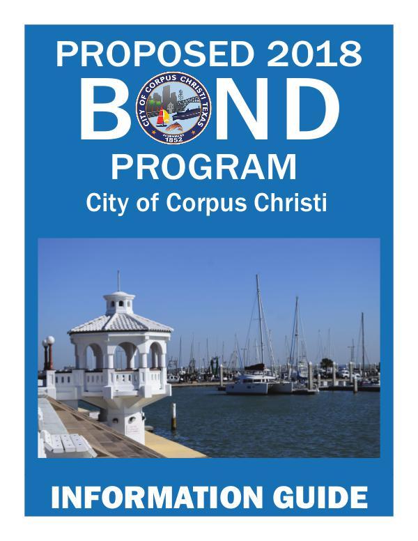 Proposed City Bond 2018 Proposed Bond 2018