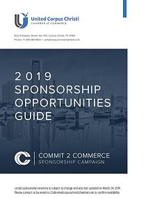 2019 Sponsorship Opportunities Guide