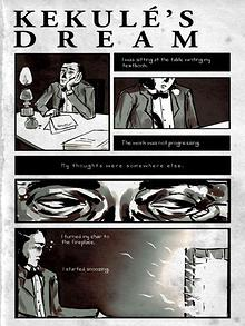 Cartoon: Kekulé's dream