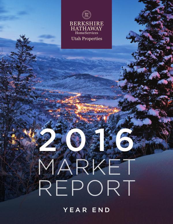 2016 Year End Market Report - Park City, Utah Real Estate 2016 Year-End Market Report