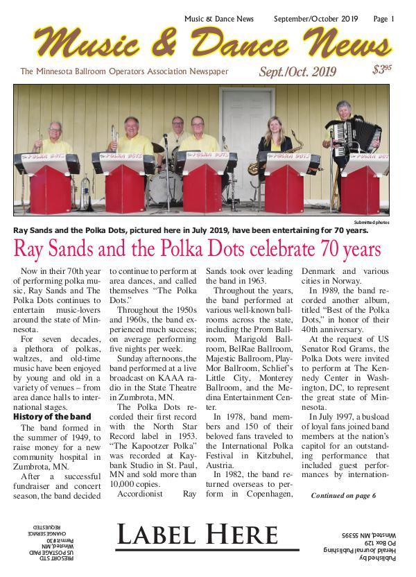 Music & Dance Music-Dance News Sept-Oct '19