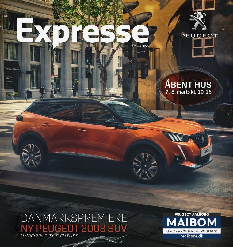 Maibom Peugeot Aalborg Åbent Hus d. 7.-8. Marts 2020