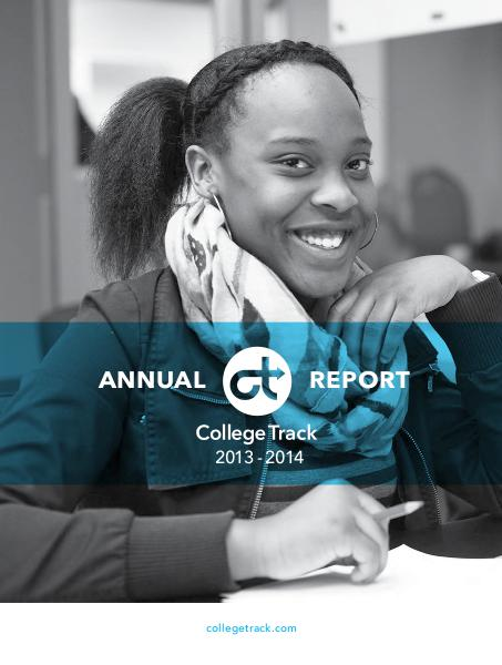 2013-2014 College Track Annual Report